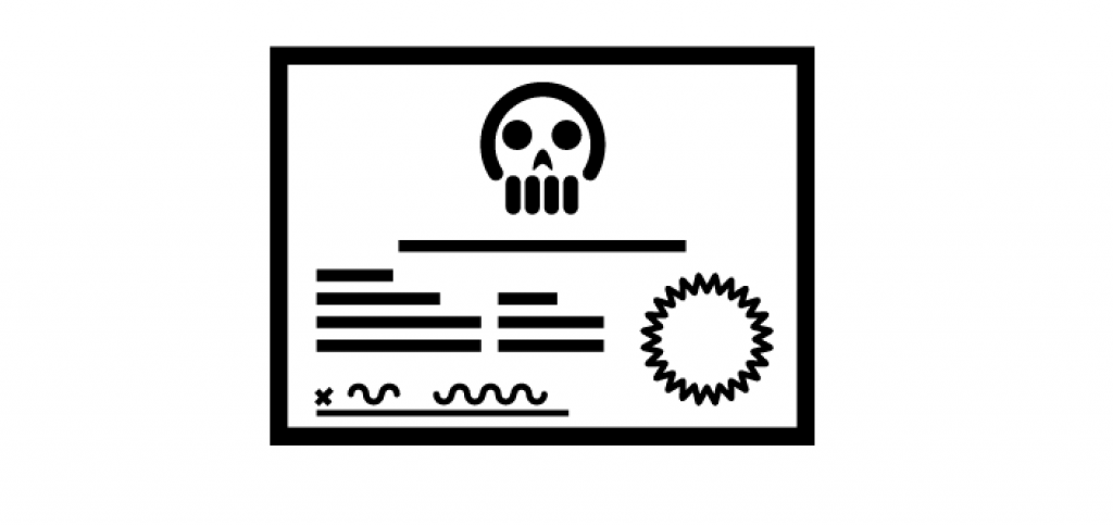Death Certificate icon, Designed by Jason D. Rowley